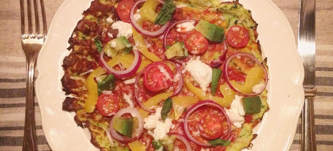 I Love Detox recept: Healthy pizza met courgette bodem