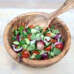 Iraanse Shirazi salade met porstelein. Een heerlijke detox lentesalade, fris, zuur , hartig.