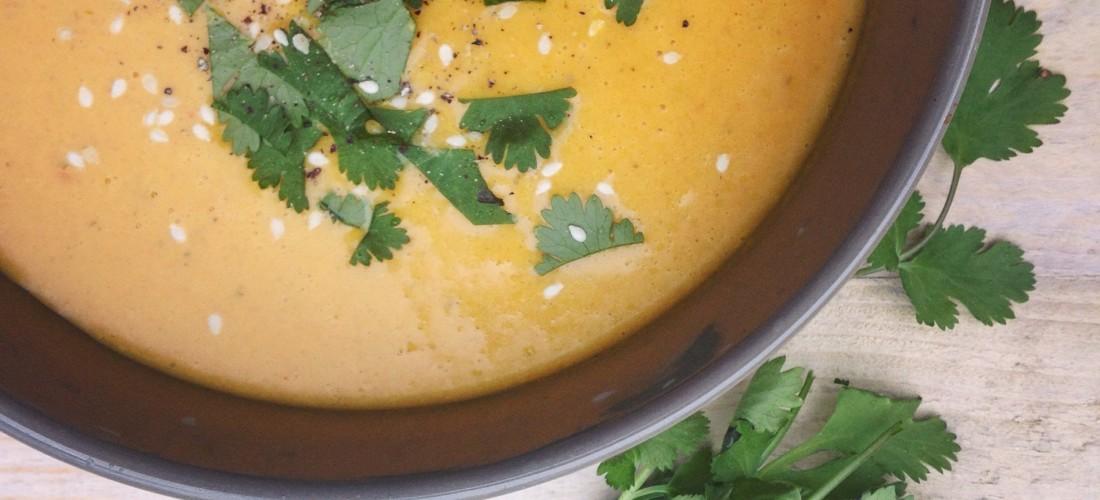 Thaise kokos gember wortelsoep. I Love Detox recept, om te smullen!