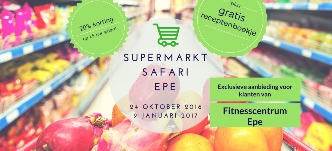 Supermarktsafari Epe! Lid van Fitnesscentrum Epe, ga dan met 20% korting op stap met boodschappencoach Nico van Rossum voor een ware detox rondleiding Bij Albert Heijn in Epe.