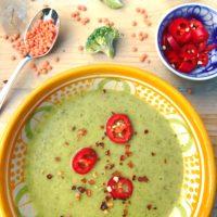Detox recept: Voedende detox soep met rode linzen en broccoli