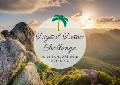 Digital Detox Challenge 2018 met Detoxcoach Nico van Rossum.Een week offline voor meer rust en ruimte