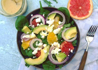 Zomer recept: Grapefruit, sinaasappel, avocado salade met honing-mosterd dressing